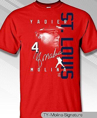 Yadier Molina St Louis Cardinals 2017 Signature shirt.   St Louis Cardinals