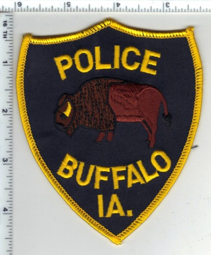 Buffalo Police (Iowa)  Shoulder Patch - new from the 1980