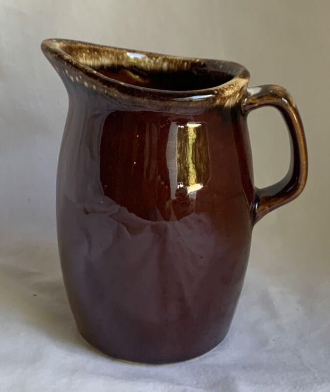 Vintage Hull Brown Drip Glaze 8 Oz Creamer