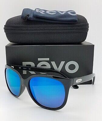 NEW Revo GRAND CLASSIC sunglasses RE 4051 01 GHG Black Glass Blue Mirror GENUINE