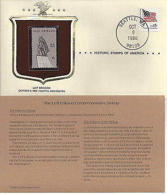 Historic Stamps of America LEIF ERIKSON Commemorative Stamp