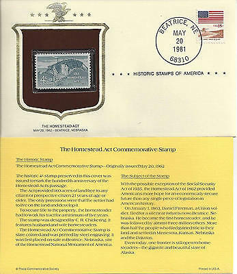 Historic Stamps of America THE HOMESTEAD ACT Commemorative Stamp
