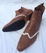 NEW Handmade Vintage Cowboy Leather Boots EUR 42 Warragul Baw Baw Area Preview