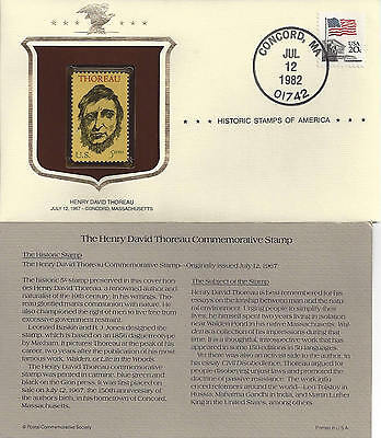 Historic Stamps of America HENRY DAVID THOREAU Commemorative Stamp
