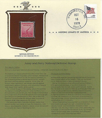 Historic Stamps of America NATIONAL DEFENSE Commemorative Stamp