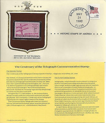 Historic Stamps of America CENTENARY OF THE TELEGRAPH Commemorative Stamp