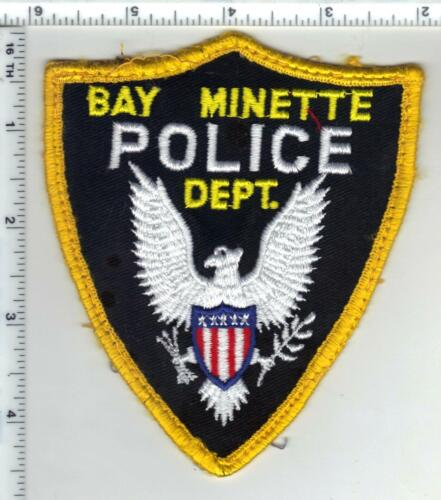Bay Minette Police (Alabama) 1st Issue Uniform Take-Off Yellow Shoulder Patch