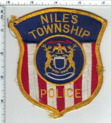 Niles Police (Michigan) Uniform Take-Off Shoulder Patch from the 1980