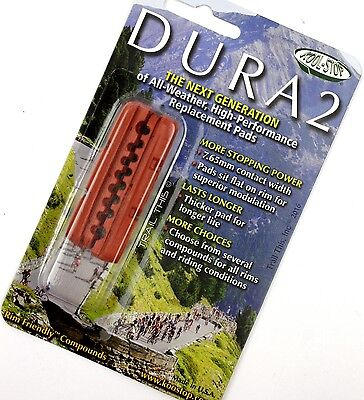 - Kool Stop Dura2 Road Bike Brake Pads Shoes WET All Weather SRAM/Shimano SALMON