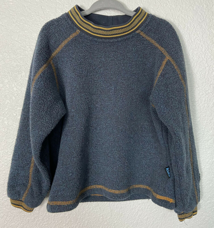 ALF By KUHL Alfpaca Fleece Pullover Youth Sweater Blue Boys XS Extra Small Child
