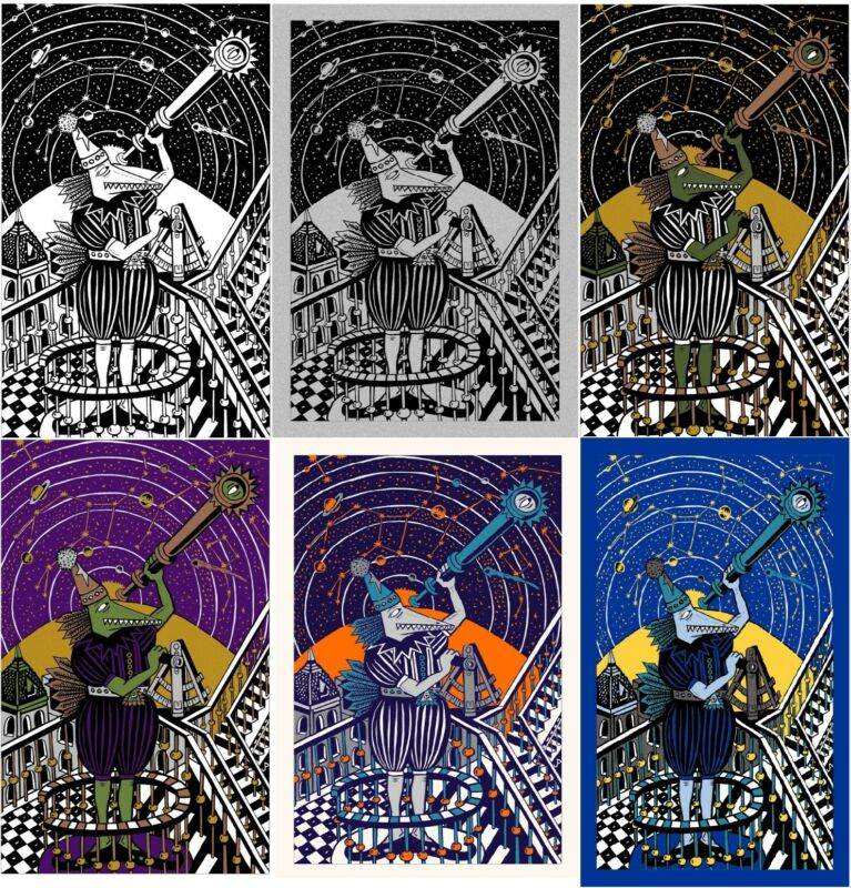 Jim Pollock Neo The Astronomer Complete Set of Matching Prints Phish Posters