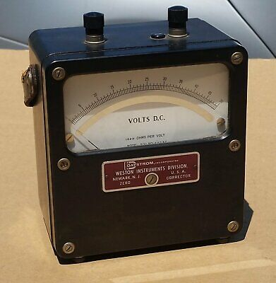 Vintage Weston Volts D.c. Meter Model 931 1000 Ohms 2