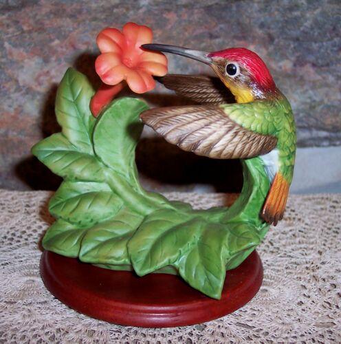 vintage 1996 ruby topar porcelain hummingbird figurine bronson collectables