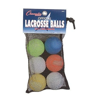 Champion Sports Lacrosse Ball Official Size And Weight, Set Of 6 Ball LBSET New