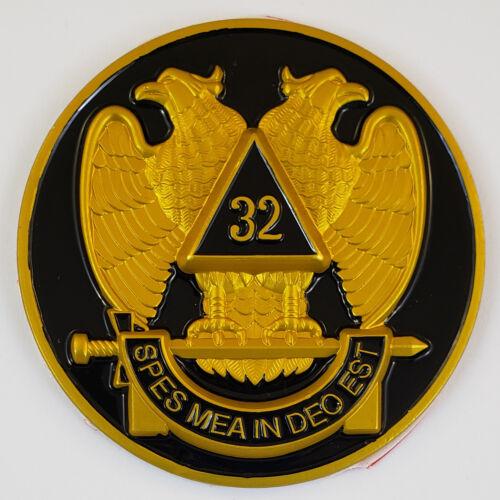 Auto Emblem Scottish Rite 32 Degree Aluminum Masonic Freemason Mason