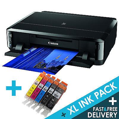 Canon PIXMA iP7250 Wireless USB Wi-Fi Photo CD Printer + 1 set XL Inks Multipack