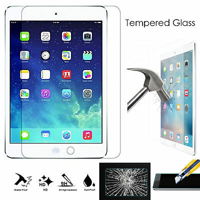 Premium Real Tempered Glass HD Screen Protector For iPad 2 3 4 Air Mini Pro
