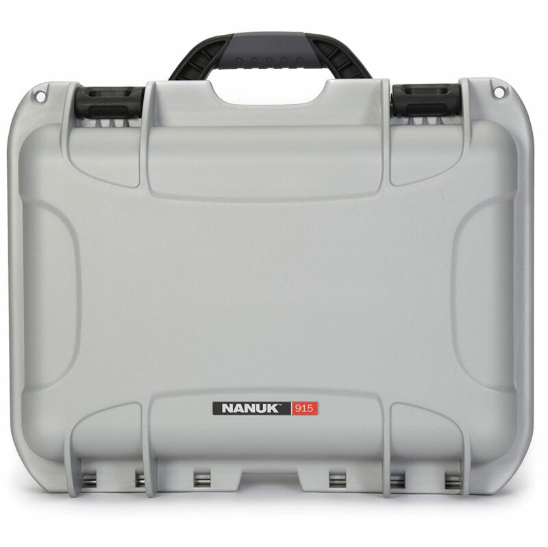 Nanuk 915-1005 Impact Resistant Waterproof Hard Case, Silver, Cubed Foam