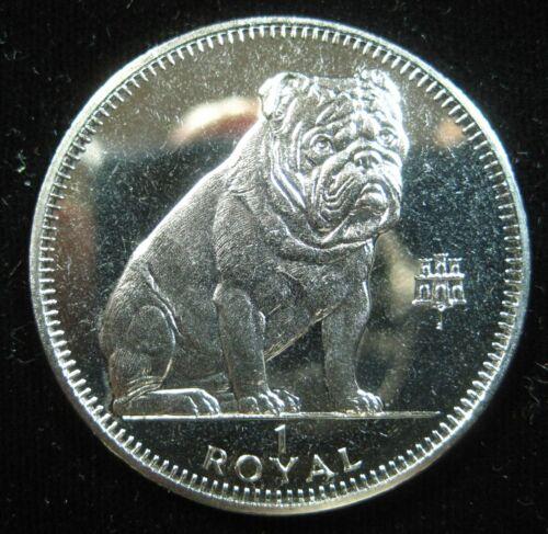 Gibraltar 1 Crown 1996 Bulldog Dog BU Proof-like 20# Money Coin