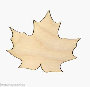 Maple-Leaf-Unfinished-Flat-Wood-Shapes-Cut-Outs-ML5017-Variety-Sizes-Crafts