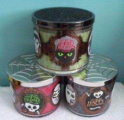 One (1) Bath & Body Works Halloween-Themed 14.5 oz., 3-Wick Candle