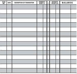 5 easy to read checkbook transaction register large print for Bank transaction register template
