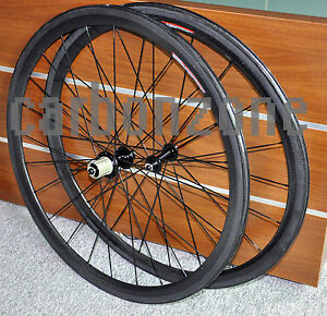 Clincher-38mm-Full-carbon-wheels-700C-carbon-clincher-Wheels-Wheelsets