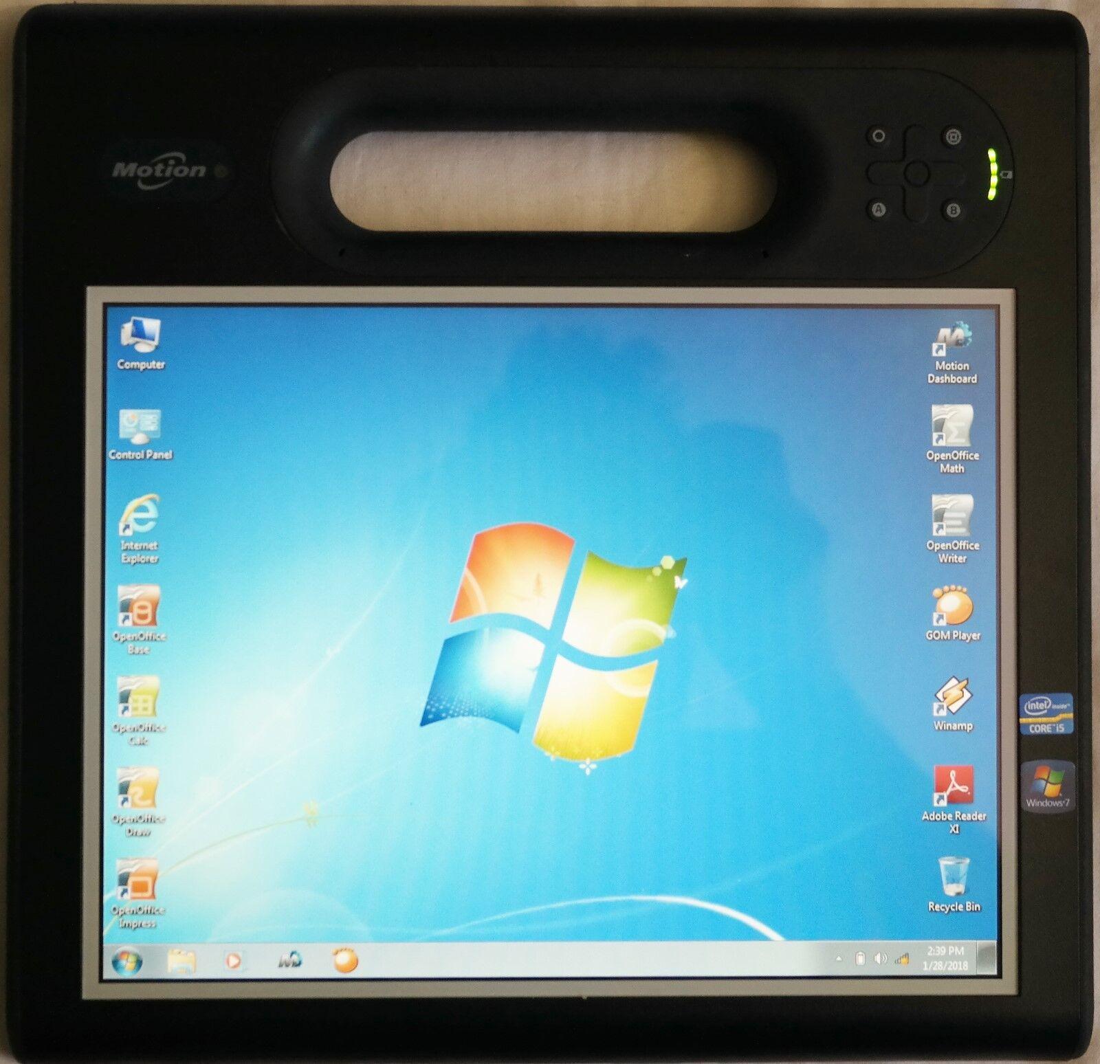 Motion Computing F5T Core i5 1.8GHz-(2.27Hz) 4GB 128GB SSD Touch Screen LCD Gobi