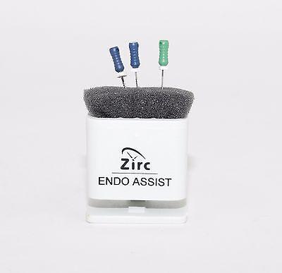 Dental Endodontic Assist Organizer With Measuring Gauge Autoclavable White
