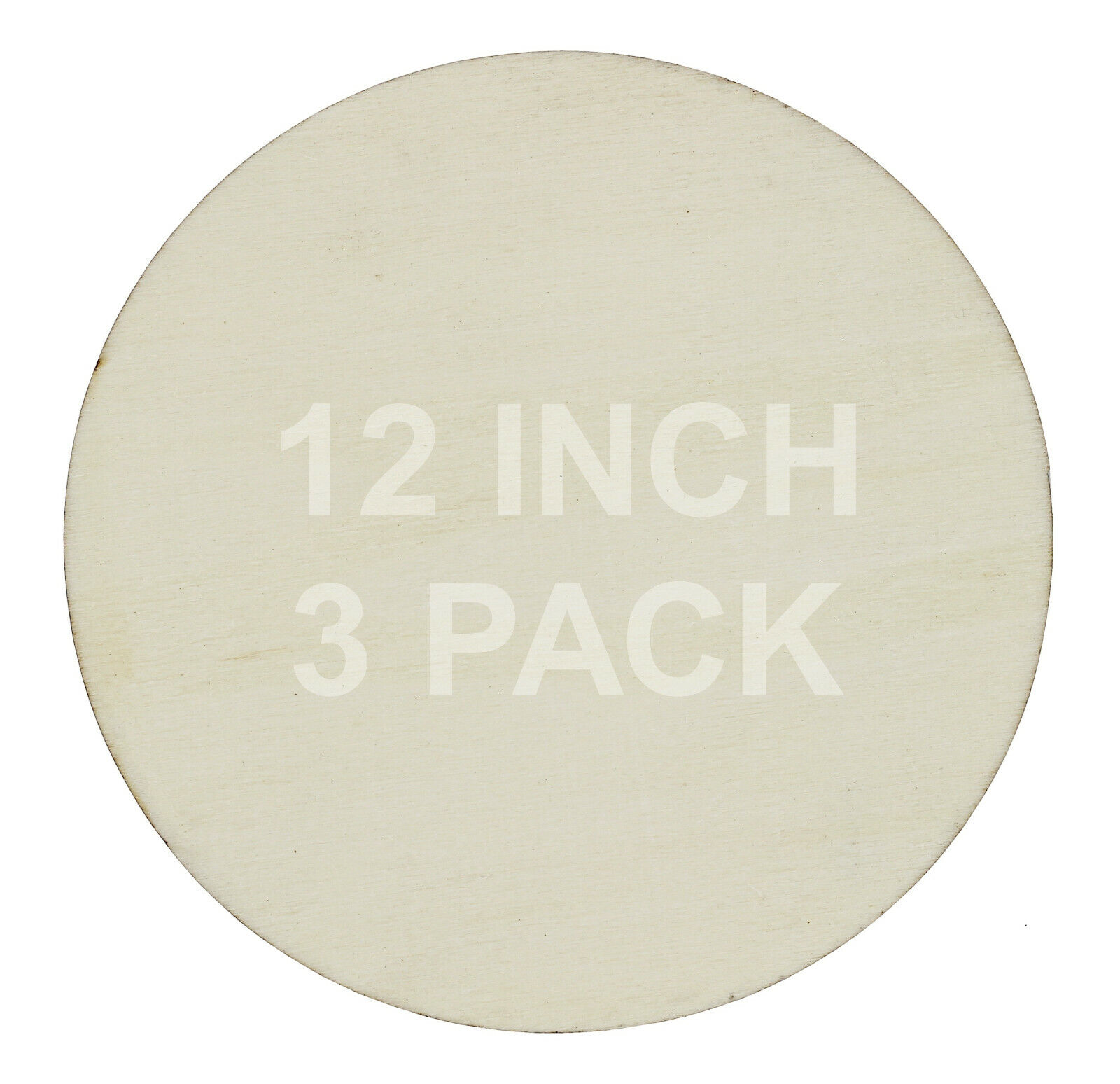 12 inch Round Circle Cutout Shapes, DIY Unfinished Wood Craft Shape – Pack of 3 Crafting Pieces