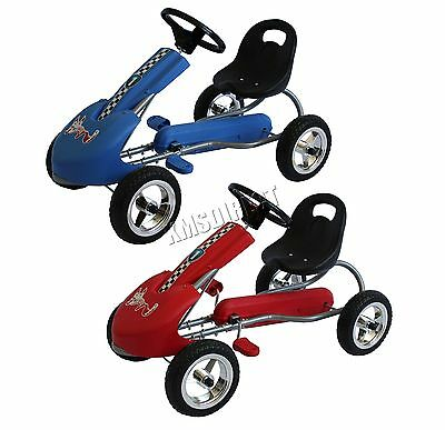 FoxHunter Kids Go Kart Ride On Car With Pedal Plastic Wheels Adjustable Seat New