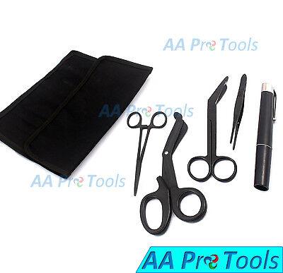 Aa Pro Tactical Black Kit Shears Emtscissors Set Combo Pack Wholster