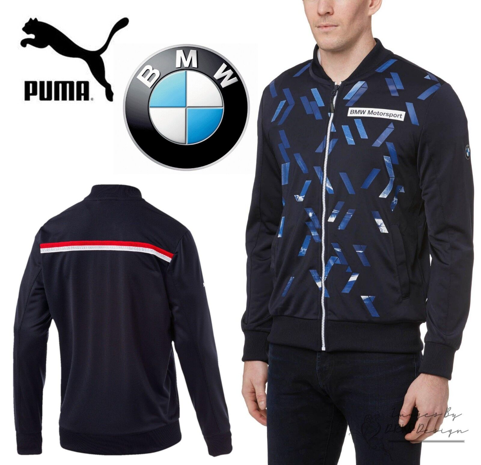 Details about PUMA BMW M Series Men s Blue Track Jacket Motorsport F1  Sports Top 0456c8682