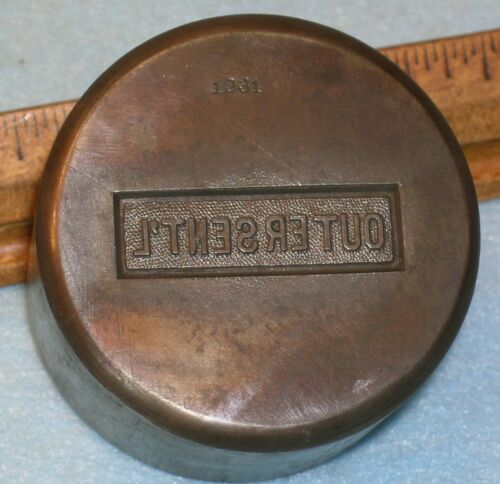 Antique OUTER SENTINEL 2+ Lb KNIGHTS OF COLUMBUS Stamping Die