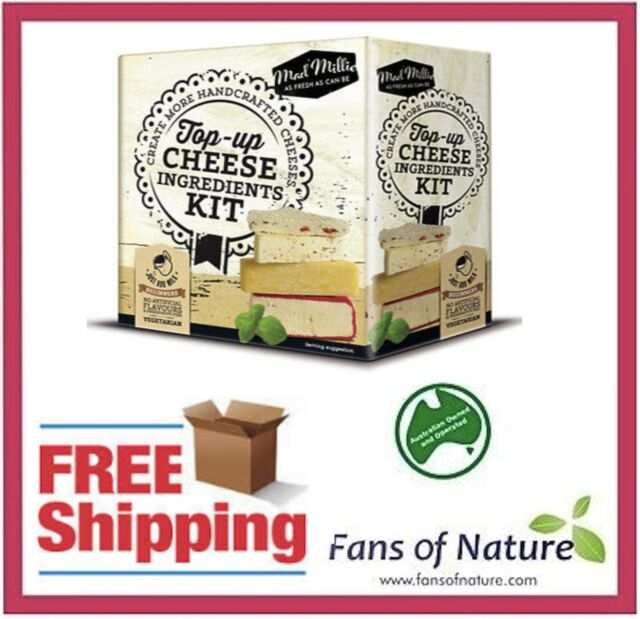 Top-Up Cheese Kit : Culture, Cheese Cloth, Calcium Chloride, Citric Acid, Rennet
