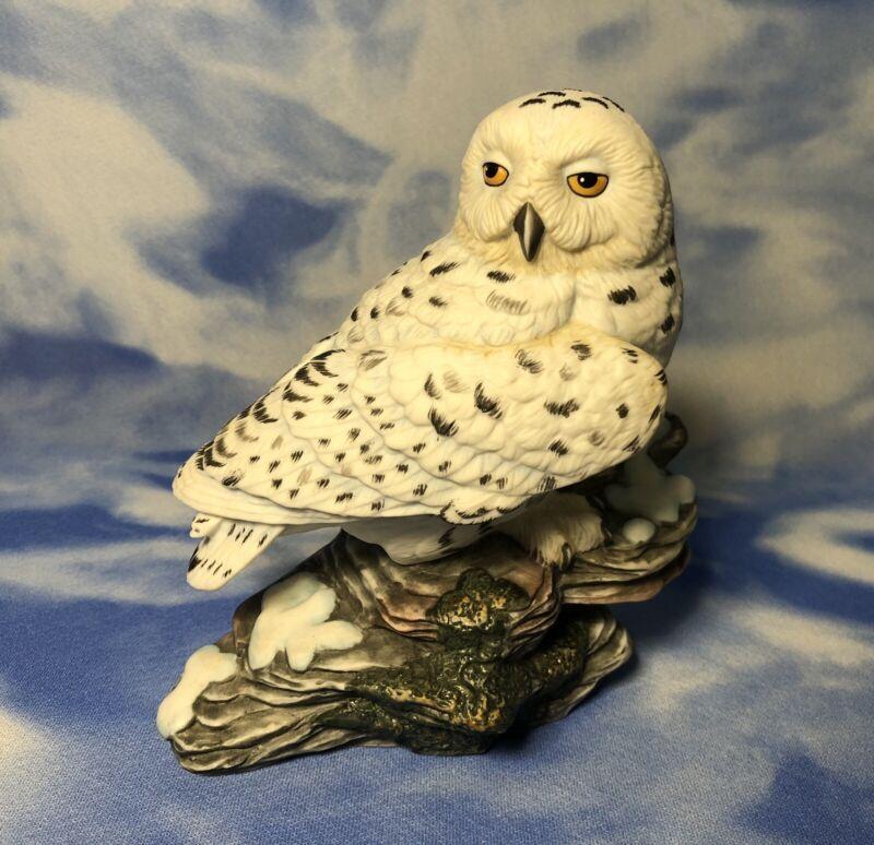 "Vintage Hamilton Coll Maruri Majestic Owls of the Night ""Snowy Owl"" Figurine EUC"