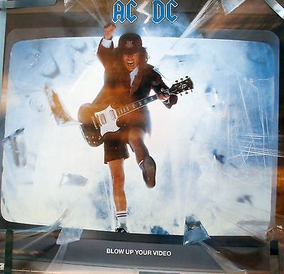 RARE AC/DC ANGUS YOUNG BLOW UP YOUR VIDEO 1988 VINTAGE ORIGINAL PROMO POSTER