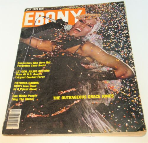 VINTAGE EBONY MAGAZINE GRACE JONES COVER JULY 1979 GOOD CONDITION SEE PICTURES !