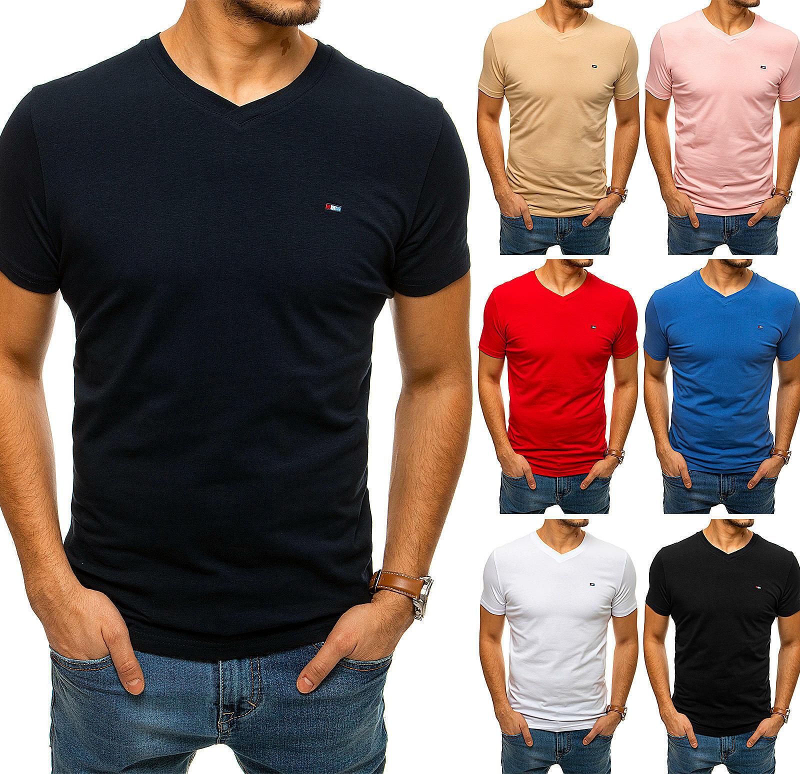 T-Shirt Kurzarm V-Ausschnitt Sport Basic Herren DSTREET