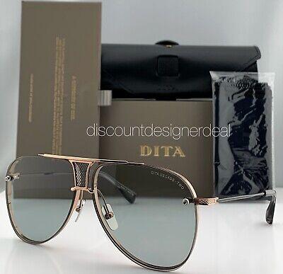 DITA DECADE TWO Aviator Sunglasses DRX-2082 Rose Gold Frame Light Gray Lens (Aviator Black Lens Gold Frame)