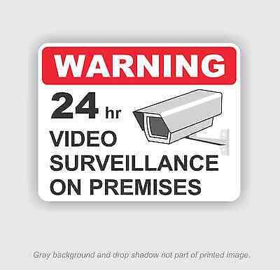 24hr Video Surveillance Security 5.5x 7 Sticker Outdoor Durable Business Sign