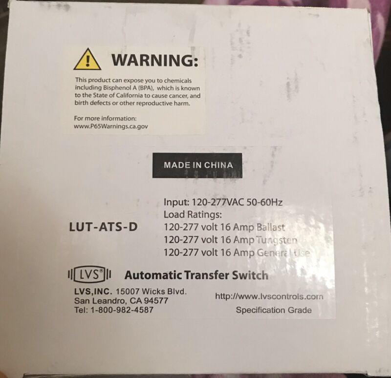 LVS Automatic Transfer Switch Lut-Ats-D