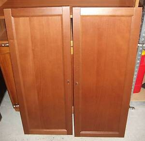 Ikea Billy Byom Half Height Doors (Medium Brown) x 2 Hornsby Hornsby Area Preview
