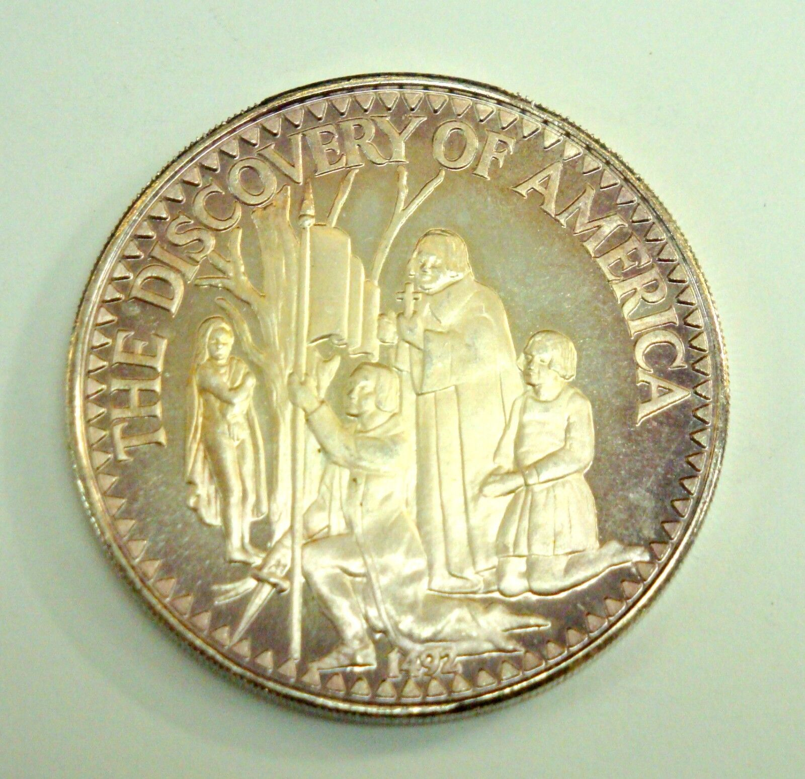 The Discovery Of America Sterling Silver Collectable Coin - $49.99