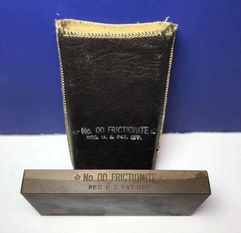 Antique American Hone Co. 00 Frictionite Barbers Razor Sharpening Stone w/ Case