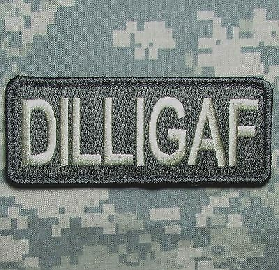 DILLIGAF USA ARMY OAF ISAF TACTICAL MORALE MILITARY BADGE ACU LIGHT HOOK PATCH