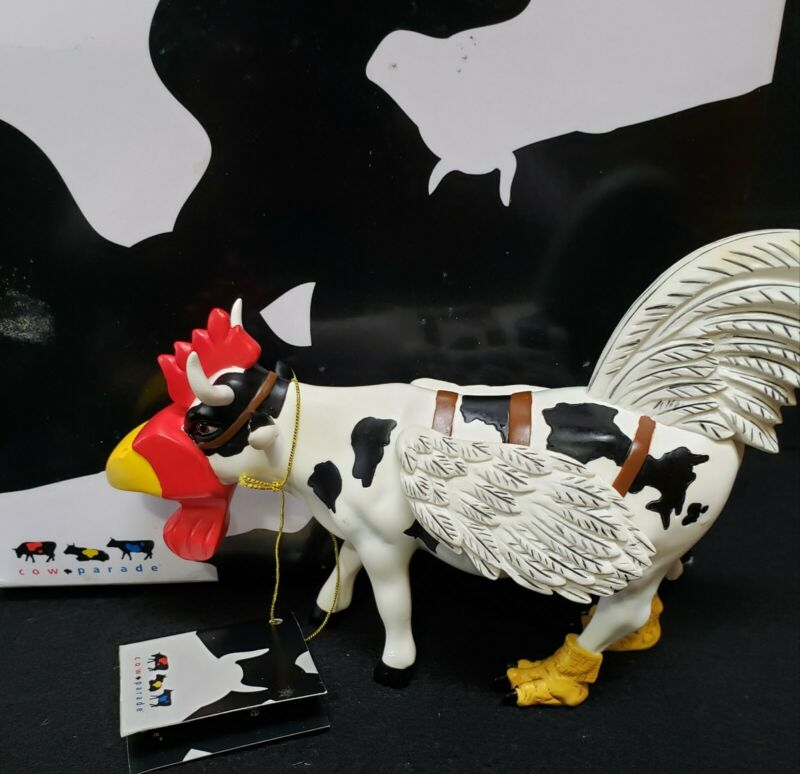 Cow Parade COW-MOO-FLAGE #7254 / 2002 with Box Free Shipping