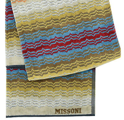 MISSONI HOME BEACH TOWEL ROSE GARDEN COLLECTION VELOUR COTTON 40x70
