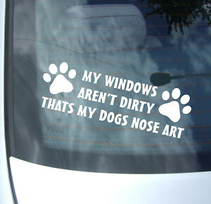 DOG NOSE ART FUNNY VINYL STICKER DECAL VAN CAR GRAPHICS JDM BUMPER DRIFT PET
