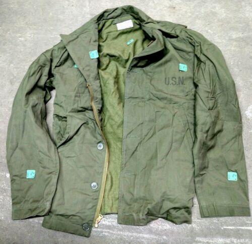 US WWII Navy N-4 olive drab cotton poplin field jackets